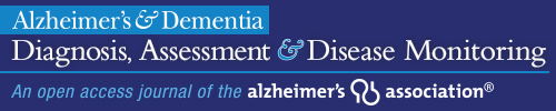 Publication in Alzheimer's & Dementia: DADM